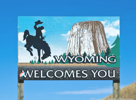 Wyoming Welcomes You sign