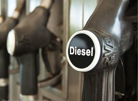 diesel fuel pump handle