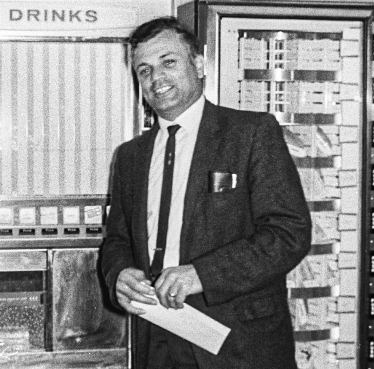Sam DePiano in the drivers' room, June 1969.