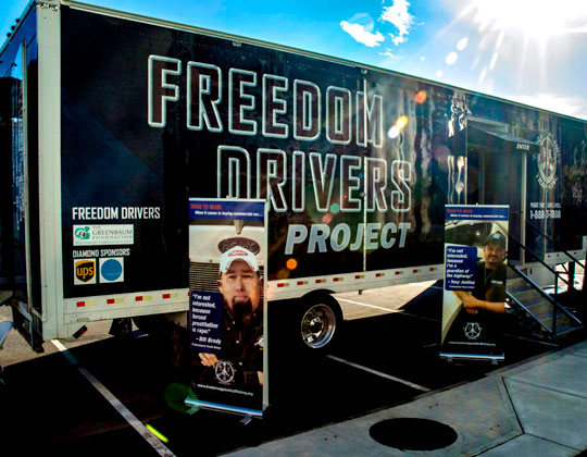 Truckers Against Trafficking's Freedom Drivers Project