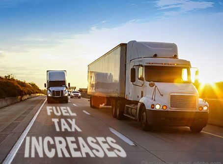 Fuel tax rate changes on July 1