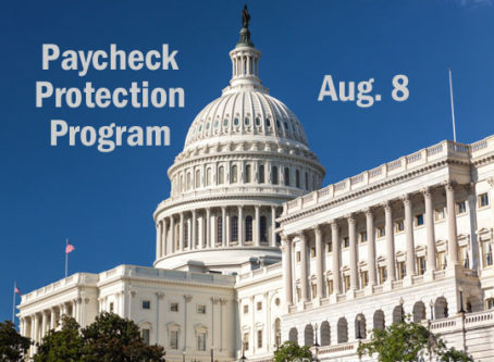 U.S. Capitol, Paycheck Protection Program Aug. 8
