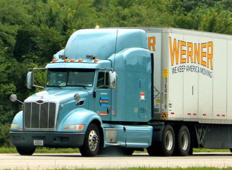 Werner truck on I-35