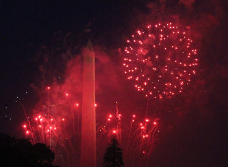 Fireworks at the Salute to America celebration on the Fourth of July at the White House.