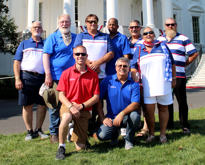 Members of the OOIDA Board of Directors and Association staff were invited to attend the Salute to America celebration on the Fourth of July at the White House.
