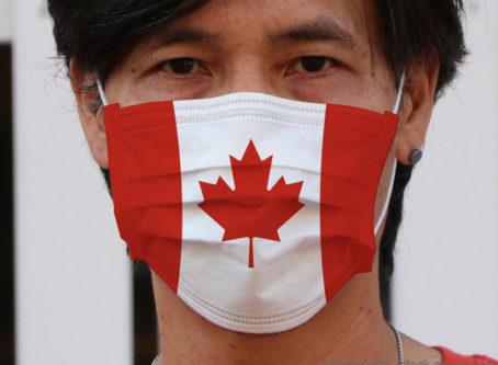 Canada flag COVID-19 mask