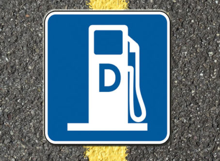 diesel fuel highway sign