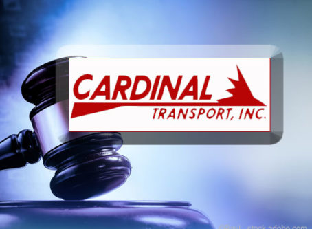 Cardinal Transport involved in lawsuit