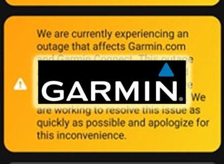 Garmin reports massive outage affecting its products