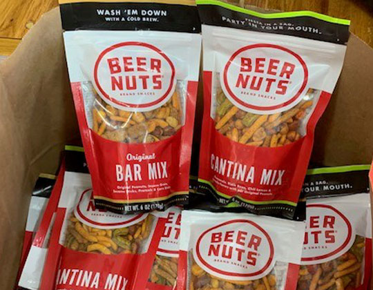 Beer Nuts, gifts of the company to Jon Osburn, skipper of The Spirit