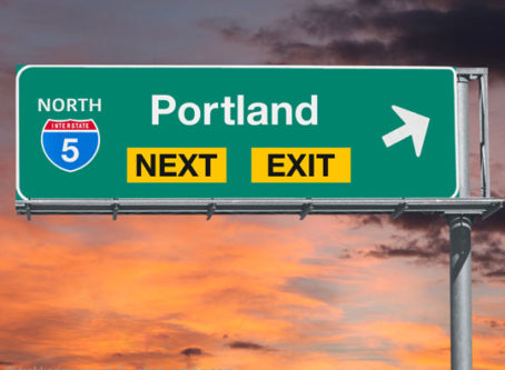 Portland, Ore., highway sign