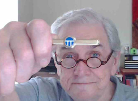 John Bendel still has the ATA Transport Topics tie clip given to him back in the 1970s.