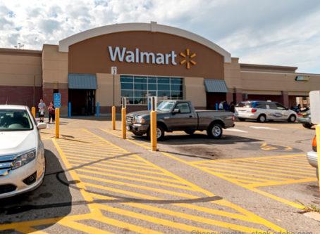 A Walmart parking lot