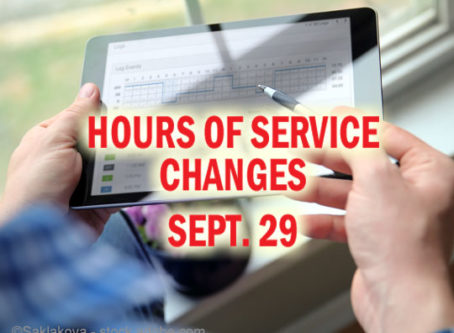 FMCSA plans to roll out new HOS rules on Sept. 29