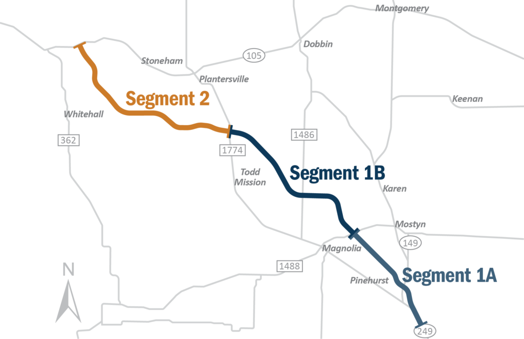 SH 249 Project map