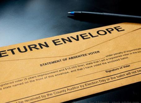 absentee voting ballot
