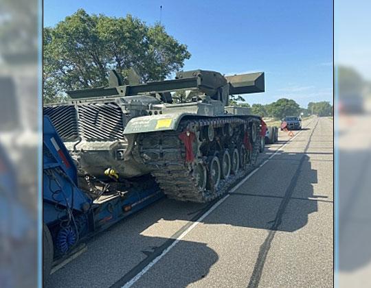 Abandoned military vehicle, Courtesy Nebraska State Patrol