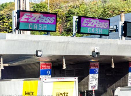 E-ZPass cash toll lanes