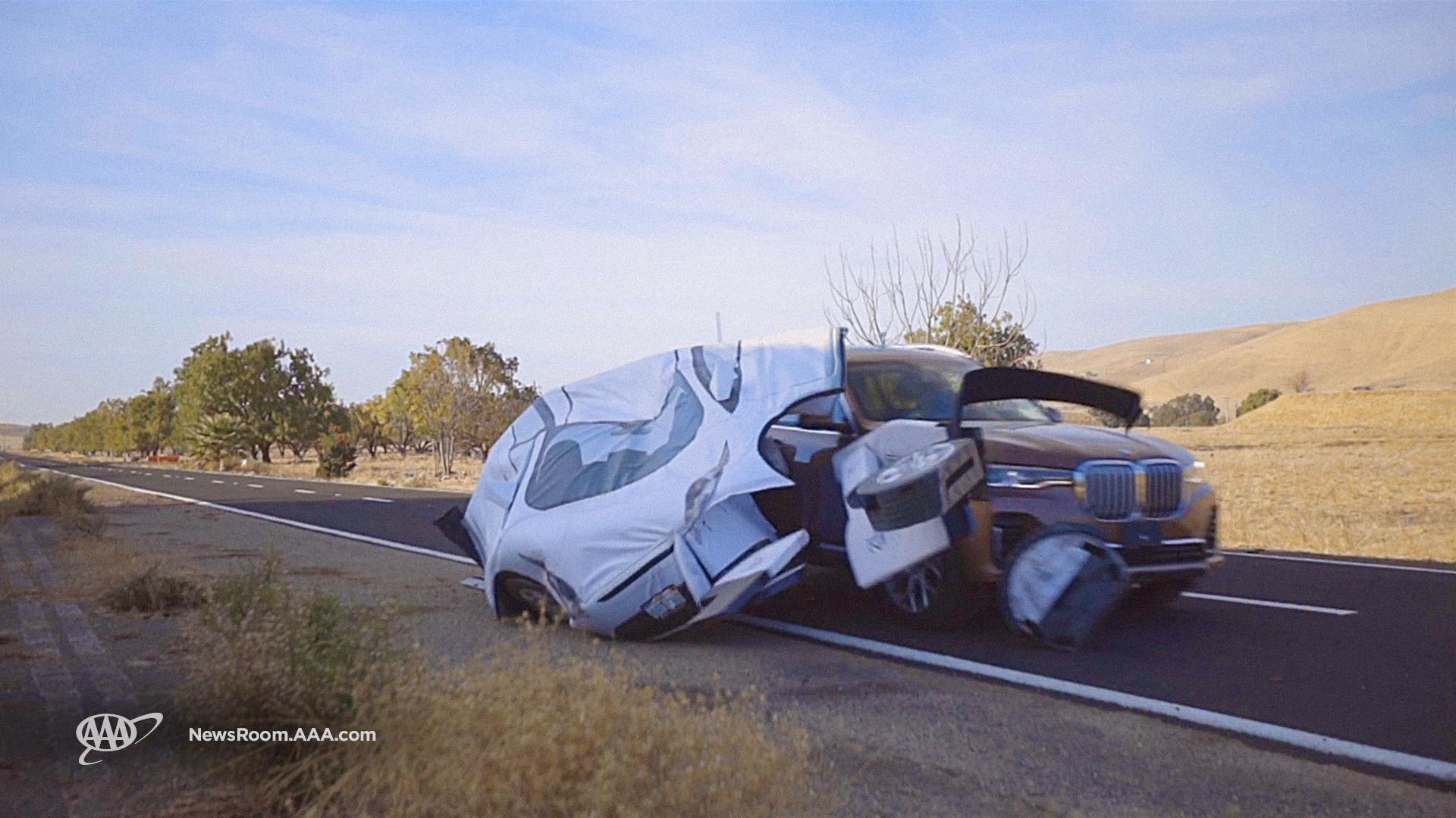 ADAS Test Vehicle Crash Photo
