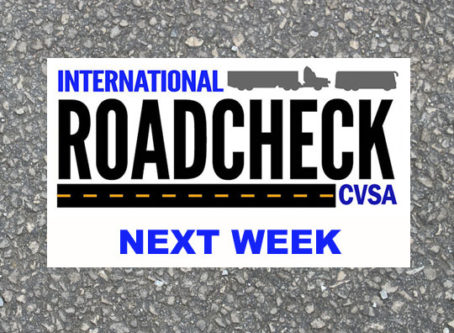 International Roadcheck is next week