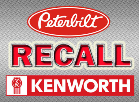 Recall Peterbilt, Kenworth trucks