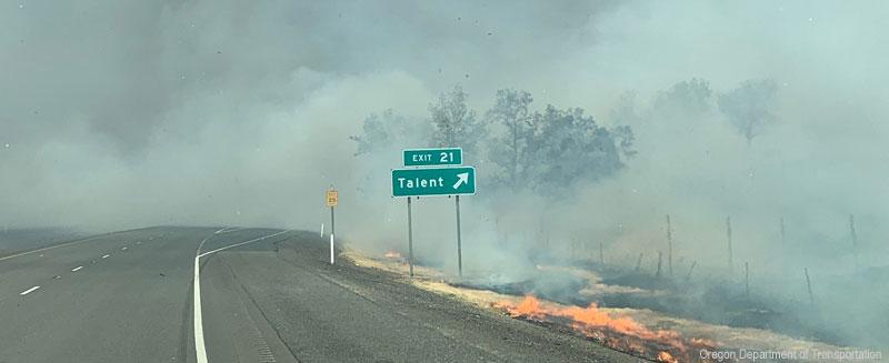 I-5 at Talent Exit 21. (Photo courtesy Oregon Department of Transportation)
