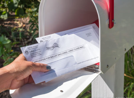 Absentee voting, mail-in ballots
