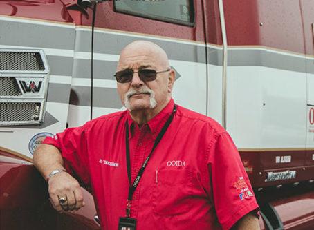 Jon Osburn, skipper of OOIDA's tour trailer, the Spirit of the American Trucker