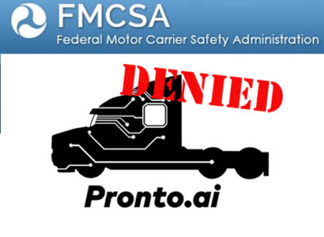 FMCSA denies Pronto.ai's HOS request
