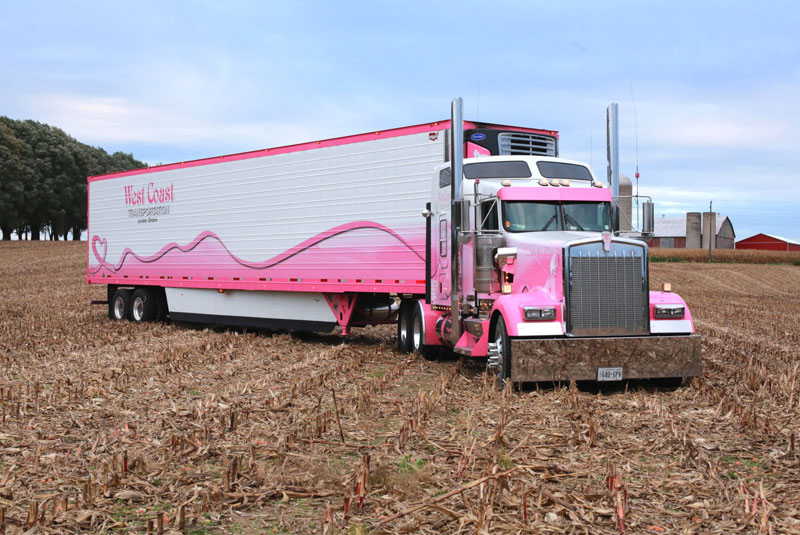Don English and Eva Knelsen of Ingersoll, Ontario/2018 Kenworth W900L