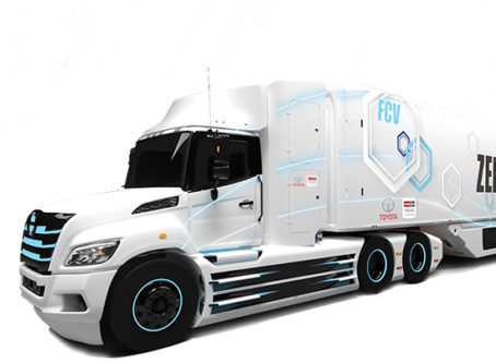 Hino Toyota fuel cell tractor