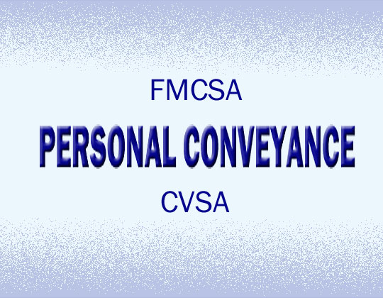 FMCSA denies CVSA's personal conveyance petition