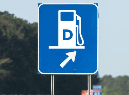 Diesel exit sign