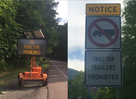 Smugglers' Notch signs