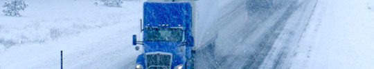 Winter storm, Washington state, treactor-trailers