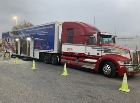 OOIDA's tour trailer, The Spirit, in Jessup, MD.
