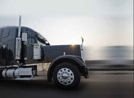 HOS Flexibility, truck in motion