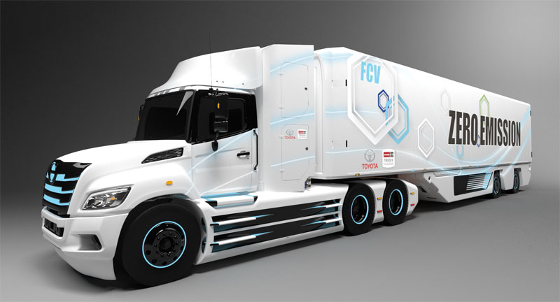 Hino, Toyota developing fuel cell-electric tractor