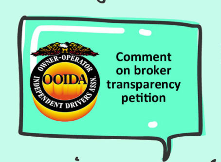 Truckers have until Nov. 18 to submit comments on broker transparency