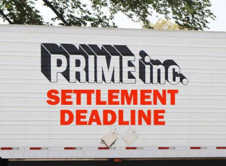 Prime truckers eligible for $28M settlement have until Dec. 7