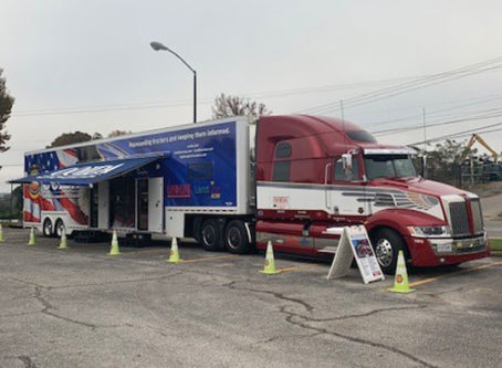 OOIDA's tour trailer at McCalla, Ala.