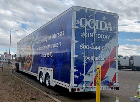 OOIDA's tour trailer is in Amarillo, Texas