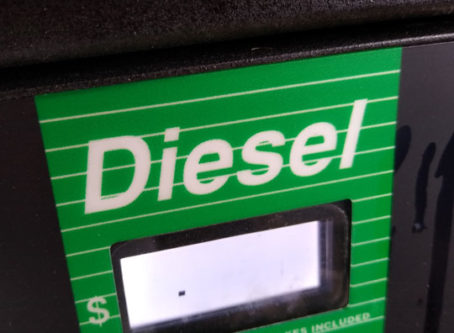 Diesel pump label