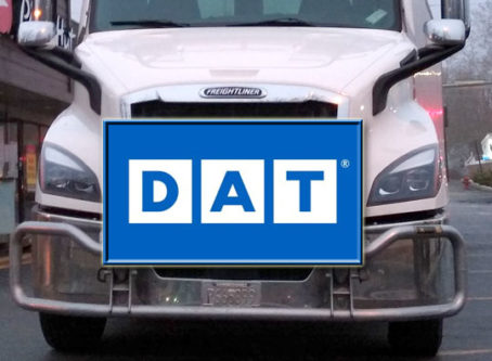 DAT load board, freight spot rates, volume reports