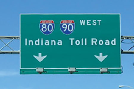 Indiana toll lawsuit, indiana toll road signage