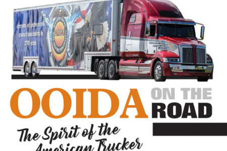 OOIDA's tour trailer The Spirit of the American Trucker tour truck