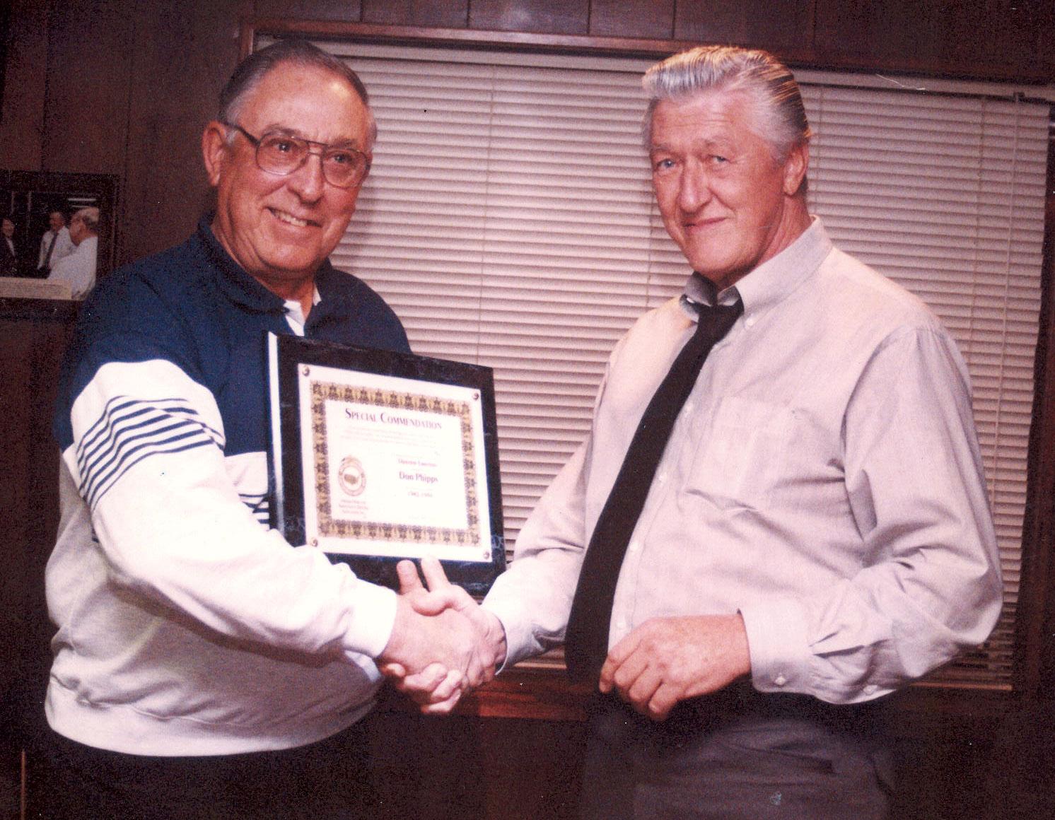 Don Phipps (left) and Jim Johnston