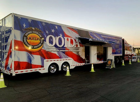OOIDA's tour trailer - the Spirit of the American Trucker