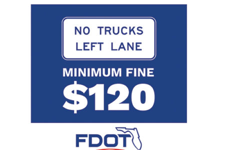 FDOT no trucks left lane
