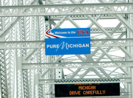 Pure Michigan welcome sign